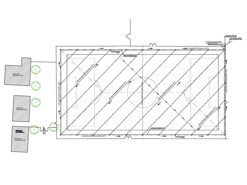 """Miglioramento campo di calcio """"B"""" – nuovo manto in erba sintetica – Pagnacco (UD)"""