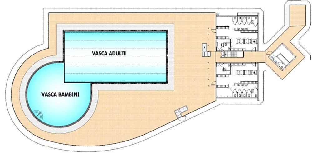 Nuova piscina scoperta con spogliatoi e bar – San Pietro in Gu (PD)