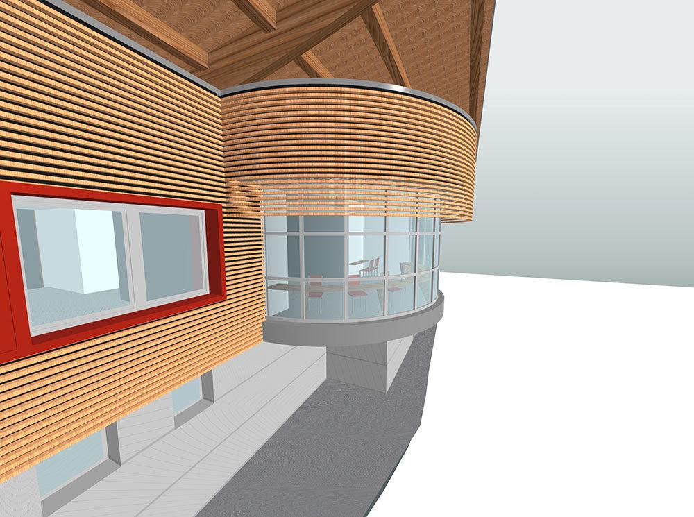 Edificio di servizio Coppa del mondo di sci – Tarvisio (UD)