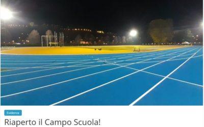 """Rifacimento pista di atletica campo CONI """" C. Covi  ed  E. Postal""""  a Trento"""