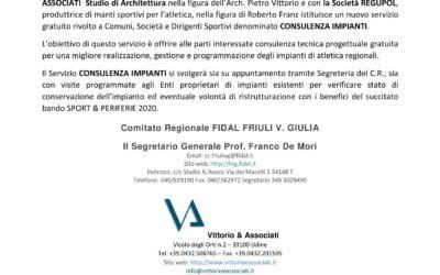 Servizio consulenza impianti FIDAL FVG – Luglio 2020