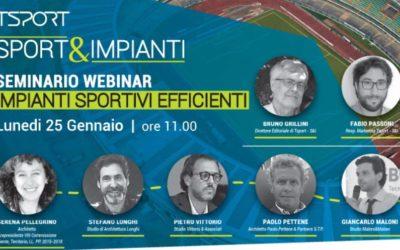 Seminario webinar: Impianti sportivi efficienti – Gennaio 2021