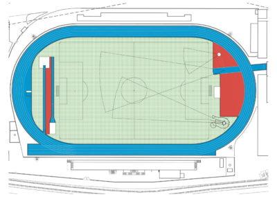 Ristrutturazione pista e pedane atletica leggera impianto sportivo viale Kennedy – Scorzè (VE)