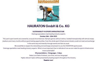 Seminario webinar: Sustainability in sport infrastructure – October 2021